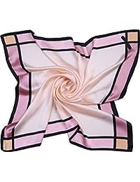 SOJOS  ソホス レディース 大判 シルク スカーフ 絹 コーデ カラー 女性ハンカチ SC303