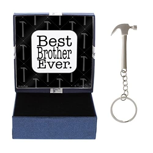Carpentryギフトメタルハンマーキーチェーンキータグ&ギフトボックスバンドル Best Brother Ever A-B-SBJB0129/P-HMKC