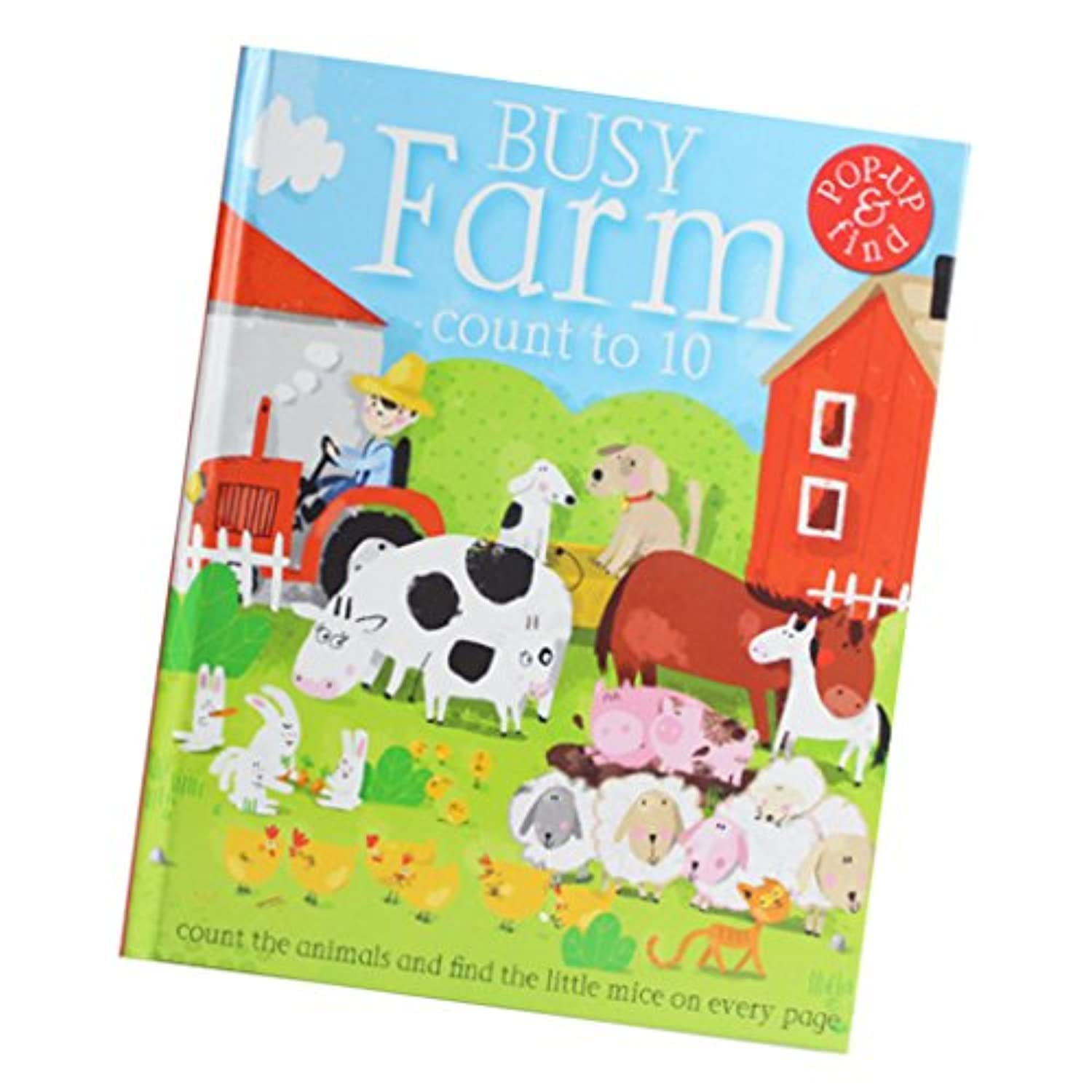 baoblaze 3d Pop Up Books for Kids : Short Bedtime Stories For Children Baby Ages 4 – 8 (A Busy Farm)