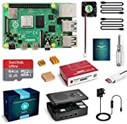 LABISTS Raspberry Pi 4 Starter Kit Pro (4G RAM)- 64GB SD Card with Noobs Preinstalled, Cooling Fan, Micro HDMI