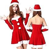 United global クリスマス サンタ コスプレ コスチューム ワンピース 衣装 レディース ふわふわ (C)