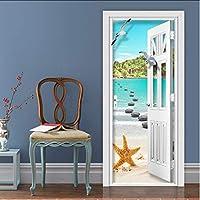 Xbwy 写真の壁紙現代の海辺の風景壁画リビングルームの寝室の家の装飾のドアのステッカーPvc自己接着防水3D壁画-400X280Cm