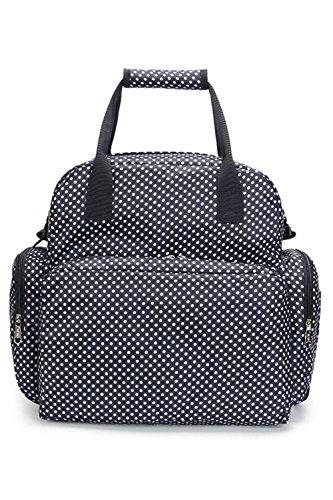 (RONGUI) マザーズバッグ 大容量 3WAY ママリュック 保温機能ポケット おむつ替えシート付き (ブラック)