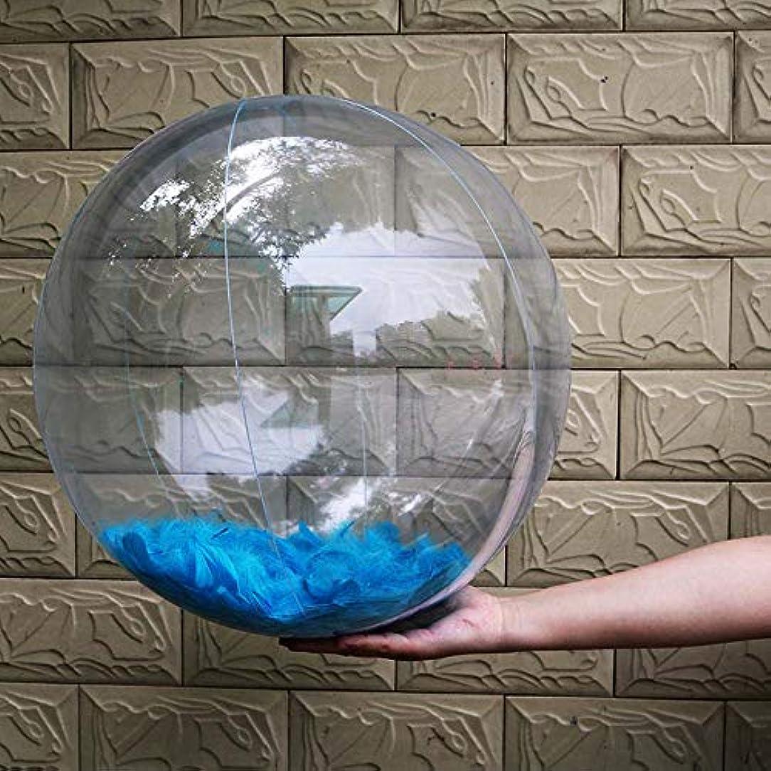 レパートリーペチコート反発水遊び ビーチボール 夏 ボール 子供 透明 羽入れ インフレータブル ボール 夏 プールボールパーティー