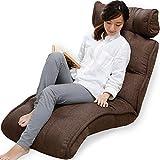 LOWYA (ロウヤ) 座椅子 ソファ 42段ギア 3Dヘッド リクライニング ポケットコイル ファブリック ダークブラウン