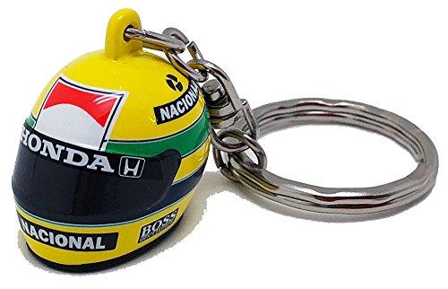 [ A.SENNA ] アイルトン・セナ コレクション オフィシャル 3D ヘルメット キーリング 1988年 マクラーレン ホンダ