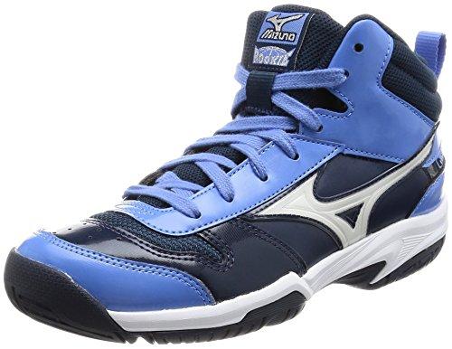 [ミズノ] バスケットシューズ ルーキー BB4 [ジュニア] (現行モデル)  14ネイビー×ホワイト×ブルー 23.5