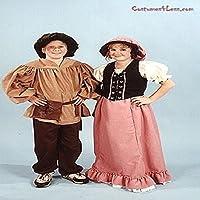 AlexandersコスチュームGirls Renaissance Peasant Skirt S ブラウン 11-192/BE