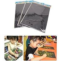 SOWAKA) スクラッチアート ペーパー 専用竹ペン セット ですぐに使える 画用紙 (30枚セット)