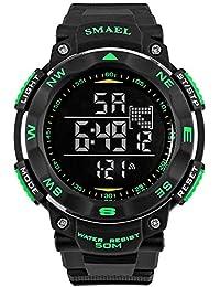 子供腕時計 レディス腕時計 カーボンケース PMMAガラス 日本ムーブメント 日付 曜日 グリーン