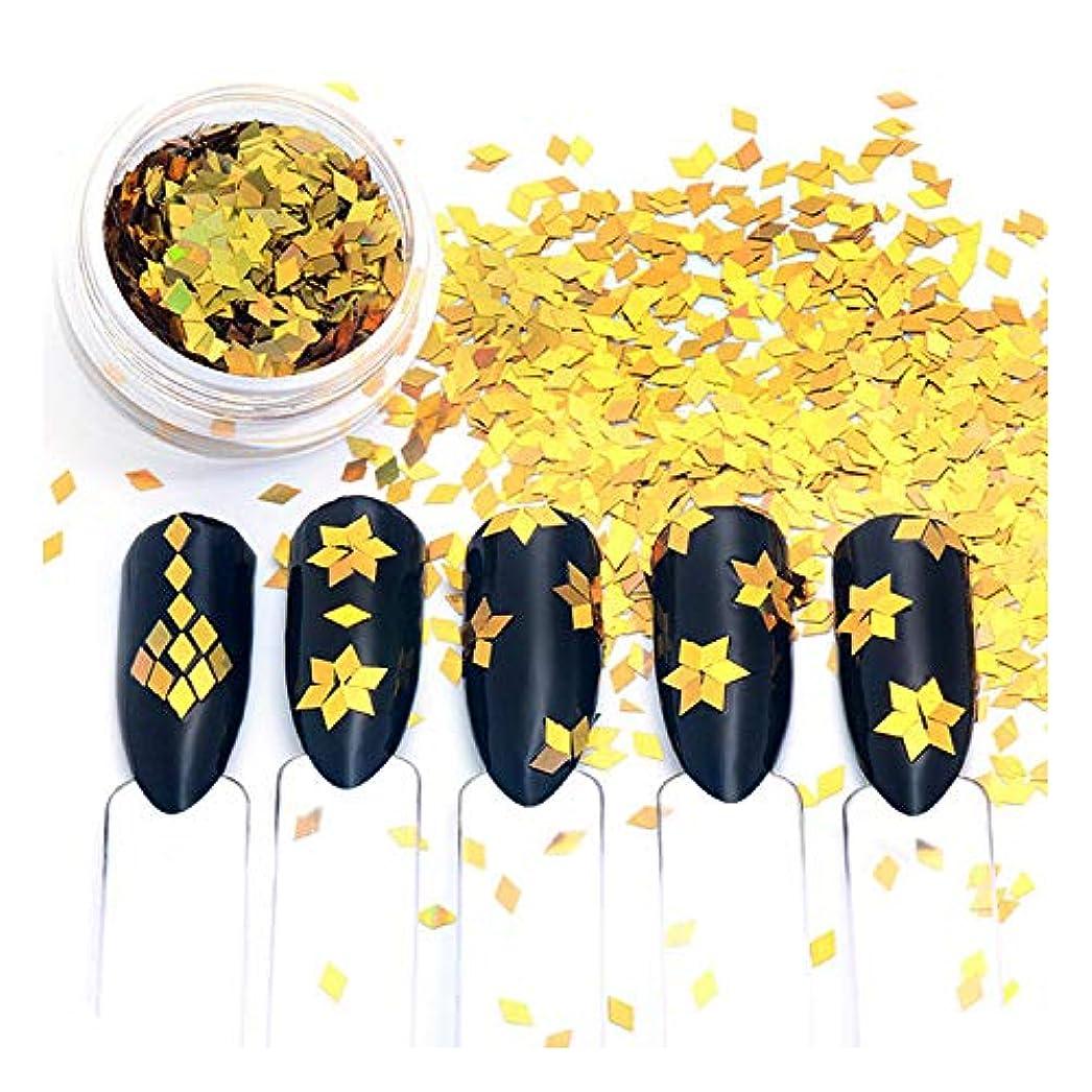 模索味付け鳩シャイニングゴールドネイルキラキラスパンコール混合菱形形状のヒントDIYチャーム装飾,H5592
