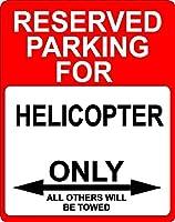 """ヘリコプター輸送Décor予約駐車場のみサイン7"""" x10""""アルミ。"""