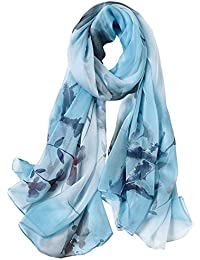 上品且つ古典なシフォン コンビ易いスカーフ
