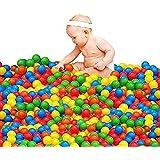カラーボール おもちゃボール 子供用 ボール 20個/50個/100個セット入り 7色 直径5cm BPAフリーのポリエチレン製 たっぷり遊べる (プール/ボールプール/ボールハウス用) (20個)