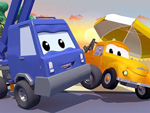 チェリーピッカーのチャックのペイントバスケットが溶けちゃう! & ベビージェレミーがバスケットゴールに衝突そして, レッカー車のトム,(子供向け)車&トラックの 建設アニメ