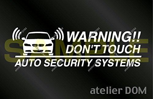 アトリエDOM BMW325i用 セキュリティーステッカー 3枚セット 内貼りタイプ