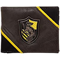 Harry Potter Hufflepuff Metal Badge Crest Bifold Wallet