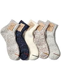 靴下 メンズ 日本製 コットン 綿 ヘンプ 麻 夏 涼しい 冬 暖かい ホワイト グレー 25-27 無地 丈夫 厚手 ノマド