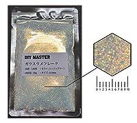 DIY MASTER ガラスラメフレーク (偏光) レッドxグリーン 0.4mm 50g