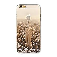 iPhone 6S / iPhone 6 用 携帯ケース CrazyLemon スリム薄型 ソフト TPU シリコン バンパー 半透明 風景 シェル アイフォン6 アイフォン6s 保護 ケース 防塵 耐衝撃 4.7 インチ - ビル