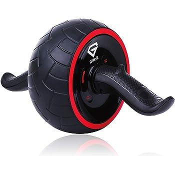 GronG(グロング) 腹筋ローラー アシスト機能 マット付き アブホイール 腹筋 トレーニング リバウンド機能 ブラック