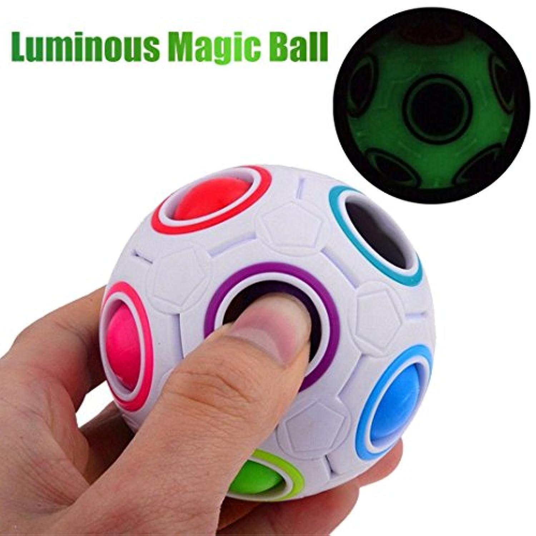 matoen新しい光応力Relieverレインボーマジックボールプラスチックキューブツイストパズルおもちゃ