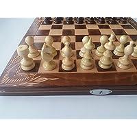 New handmade hazel wood chess piece,beech wood chessboard box, wooden chess set