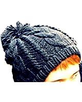 (アクト マインド) ACT MIND ポンポン ニット帽 メンズ レディース 帽子 シンプル 伸縮性 フリー サイズ ストリート ワッチキャップ ビーニーキャップ 小顔