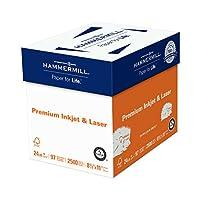 Hammermill紙、プレミアムインク&レーザーポリラップ、24lb、8.5X 11、手紙 2,500 Sheets