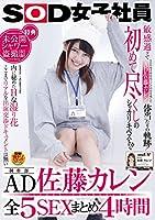SOD女子社員 制作部AD 佐藤カレン 全5SEXまとめ4時間 [DVD]