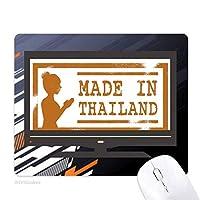 タイ仏のアートの図 ノンスリップラバーマウスパッドはコンピュータゲームのオフィス