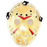 1PCS Gold Vintage Jason Voorhees Freddy Hockey Halloween Masquerade Mask