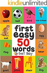 First Easy 50 Words Smart baby (English Edition)