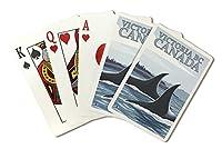 Orca Whales # 1–ビクトリア、カナダBC ( Playingカードデッキ–52カードPokerサイズwithジョーカー)
