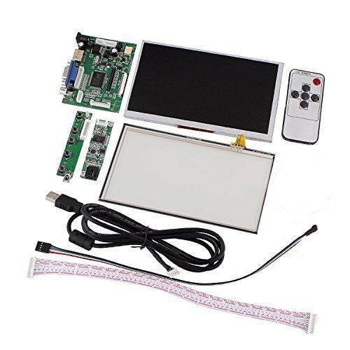 cocopar 7 インチ Raspberry Pi LCD タッチ スクリーン ディスプレイ TFT モニター タッチ スクリーンキット HDMI VGA 入力 ドライバ ボード付き