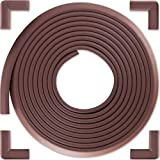 Bebe Earth - Baby Proofing Edge and Corner Guard Protector Set - Safety Bumpers - Child Proof Furniture and Tables - Pre-Taped Bumper Corners (16.4 Feet 4 Corners, Coffee Brown)