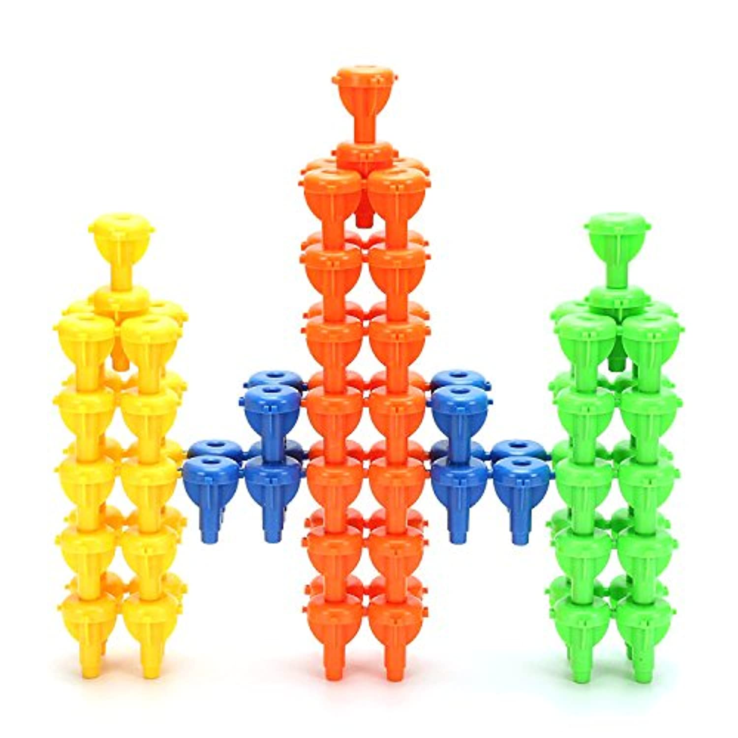 96Pcs Pegs Stacking Toy Occupational Therapy Fine Motor Building Blocks Colour Recognition Sorting Games for Kids