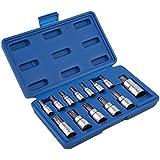 Neiko 10073A Tamper Proof Torx Bit Socket Set T8 ? T60 S2 Steel | 13-Piece Set