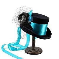 MXLTIANDAO 女性のトップハットSteampunkゴシックビクトリア朝のウェディングハットブルーベルト 帽子 (色 : 1, サイズ : 61CM)