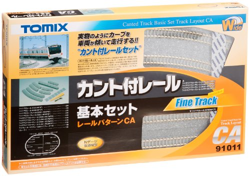 トミックス カント付レール基本セットCA 91011