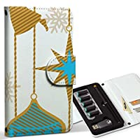 スマコレ ploom TECH プルームテック 専用 レザーケース 手帳型 タバコ ケース カバー 合皮 ケース カバー 収納 プルームケース デザイン 革 ユニーク イラスト キャラクター 雪 004161