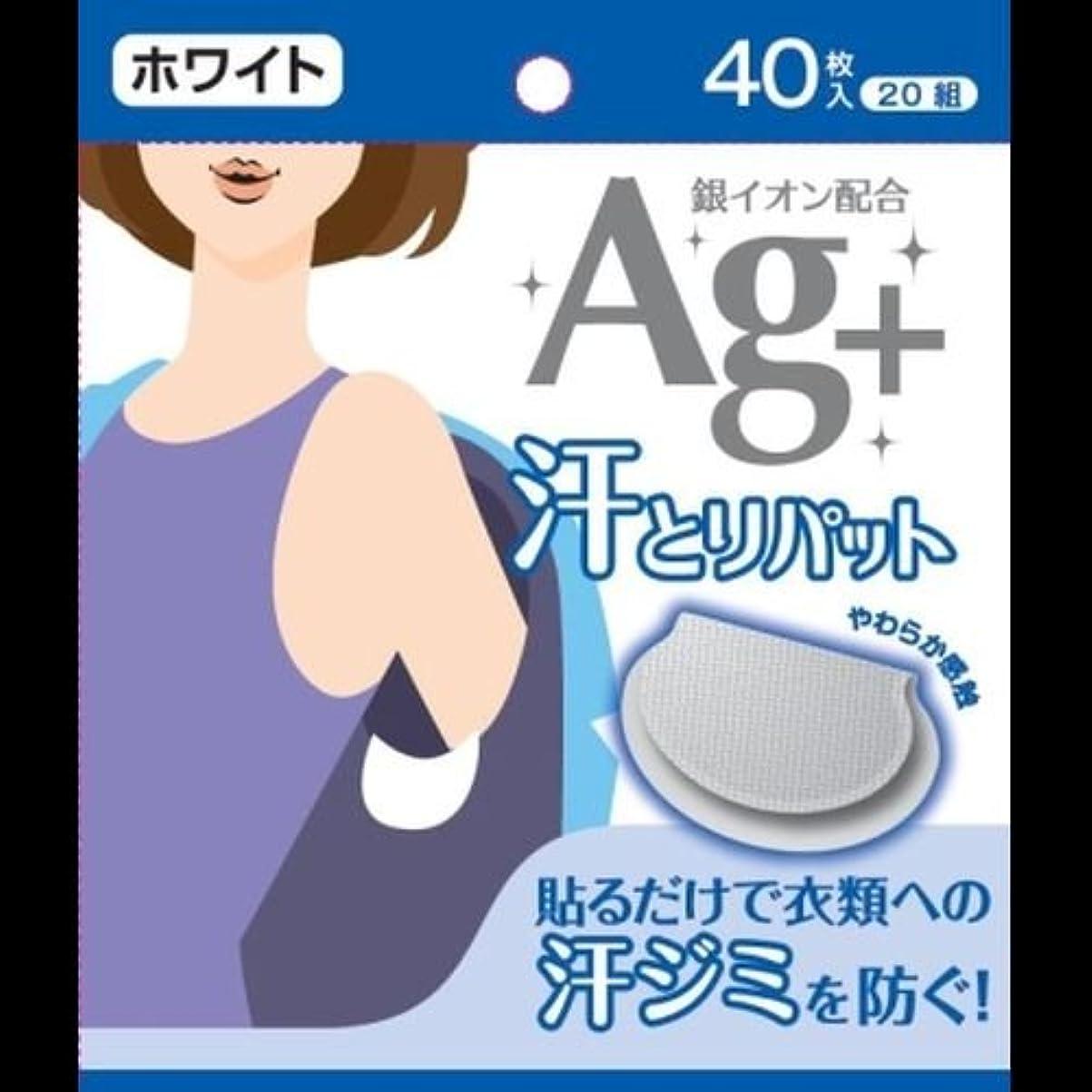 叫び声アンティーク反発Ag+汗とりパット ホワイト 40枚入(20組) ×2セット