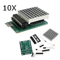 Prament 10ピース MAX7219 ドットマトリクスモジュール DIY キット 5 v 8 * 8 の SCM コントロールボードの Arduino