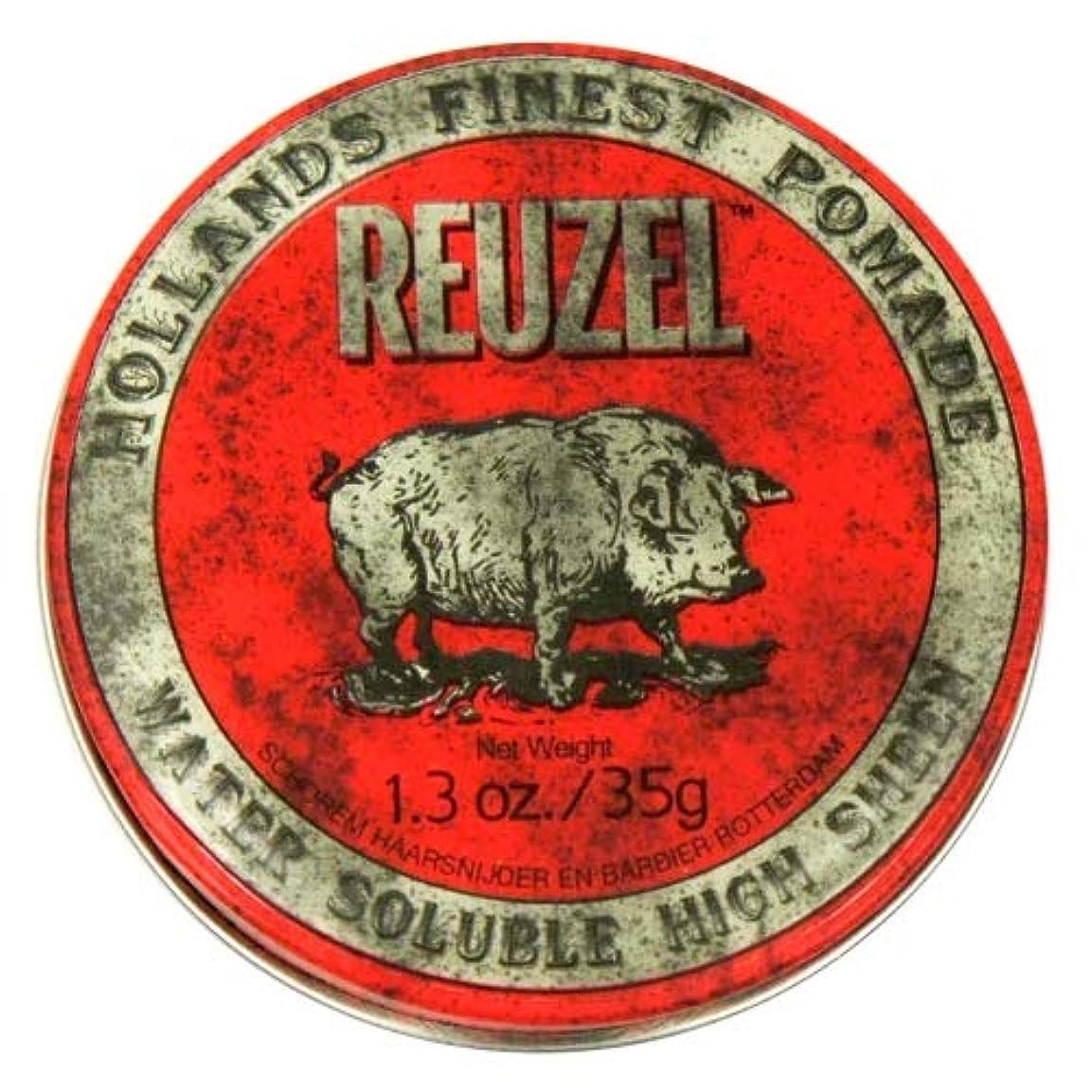 不安定な安西抜本的なルーゾー レッド ハイシーン ポマード Reuzel Red Water Soluble High Sheen Pomade 35 g [並行輸入品]