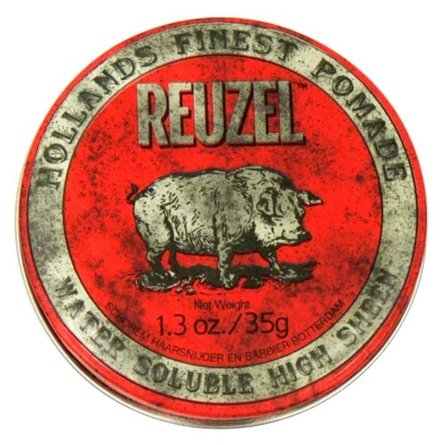 軽食百万どんよりしたルーゾー レッド ハイシーン ポマード Reuzel Red Water Soluble High Sheen Pomade 35 g [並行輸入品]