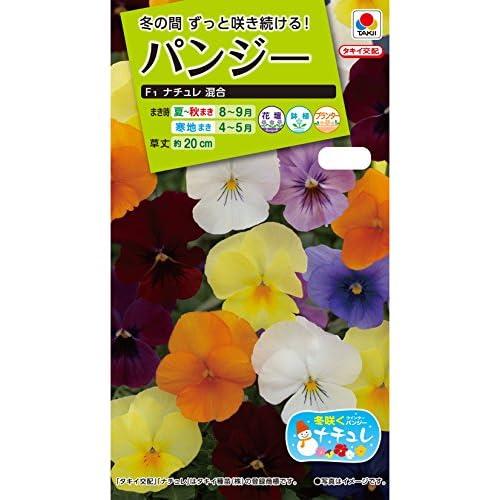 タキイ種苗 パンジーF1 ナチュレ混合