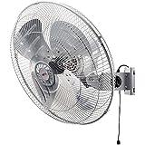 広電(KODEN) 45cmアルミ羽根工業扇風機 (壁掛型) シルバー KSF4554-S