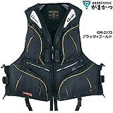がまかつ(Gamakatsu) ウィンドストッパー® フローティングベスト GM-2173 ブラック*ゴールド L