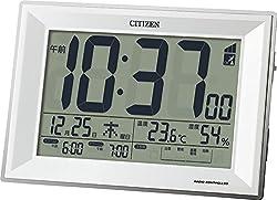 CITIZEN ( シチズン ) 電波 目覚まし 時計 パルデジットワイドDL ダブル アラーム ホワイト 8RZ151-003