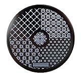 Amazon.co.jp1枚 花&格子パターンイメージプレート スタンピングプレートネイルアートhehe-078[並行輸入品]